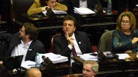 Sergio Massa votó a favor de la ley antidespidos