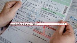 Así solía figurar el cargo para Santa Cruz en las facturas de luz