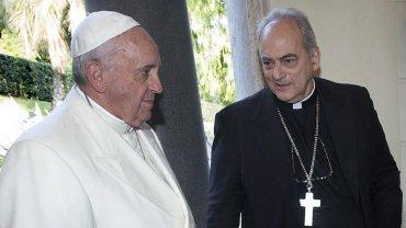 Foto de archivo. Francisco junto a Sánchez Sorondo