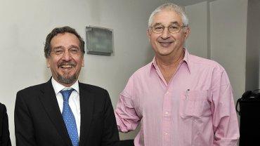 Lino Barañao y Adrián Paenza, cuando tenían una relación de amistad