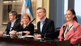 Marcos Peña, Susana Malcorra, Mauricio Macri y Gabriela Michetti