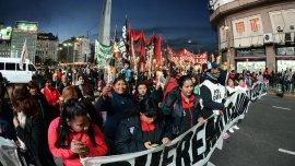 Cooperativistas marcharon a Plaza de Mayo.