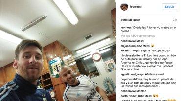 La Pulga ya está en Buenos Aires para prepararse para la Copa América