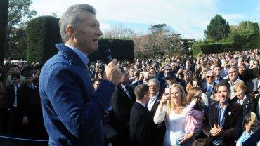 Mauricio Macri, anfitrión de un locro en la Quinta de Olivos