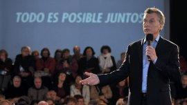 El presidente Mauricio Macri durante la presentación delPrograma de Reparación Histórica a Jubilados y Pensionados esta semana.