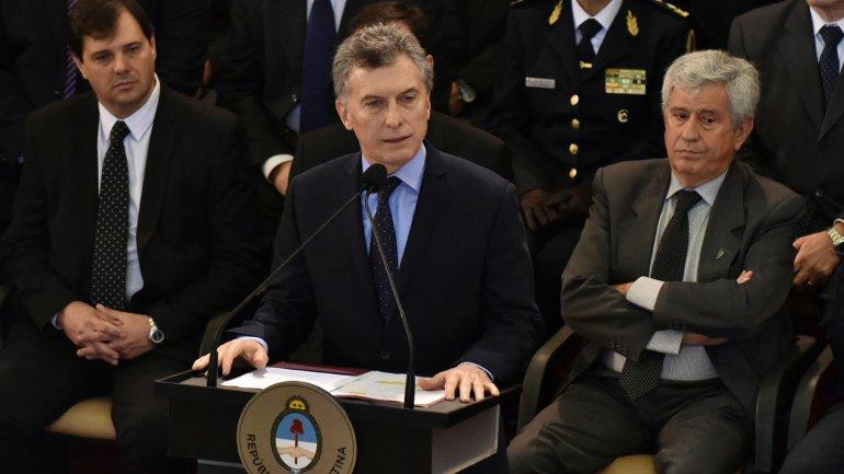 Mauricio Macri encabezó el acto por el Día del Ejército