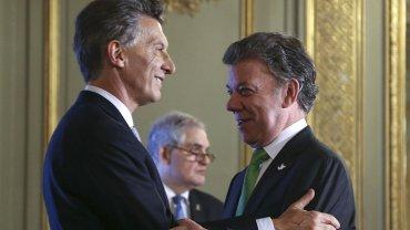 Mauricio Macri apuesta a fortalecer el diálogo con el presidente Juan Manuel Santos, de Colombia.