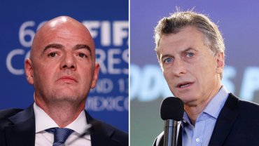 El titular de la FIFA, Gianni Infantino, y el presidente Mauricio Macri conversaron por teleconferencia sobre el futuro de la AFA