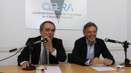 Marcelo Fernández (Cgera) y Francisco Cabrera (Ministro de Producción) confían en el relanzamiento de las pymes