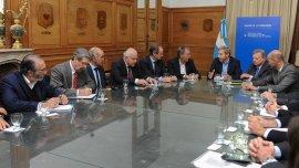 La reunión de los ministros Frigerio y Aranguren con gobernadores
