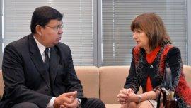 La ministro de Seguridad Patricia Bullrich, y el ministro del Interior de Paraguay Francisco de Vargas acordaron trabajar en conjunto para buscar a Pérez Corradi