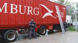 El camión donde hallaron 1,5 tonleadas de marihuana