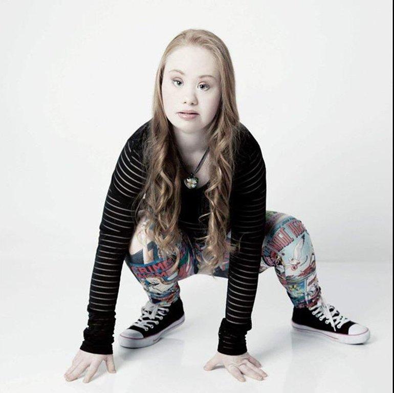 Modelo con síndrome de Down quiere conquistar Nueva York