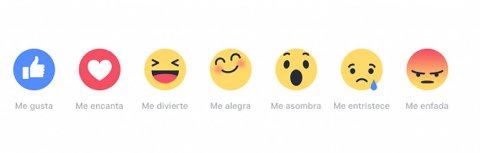 Las opciones de Facebook Reactions