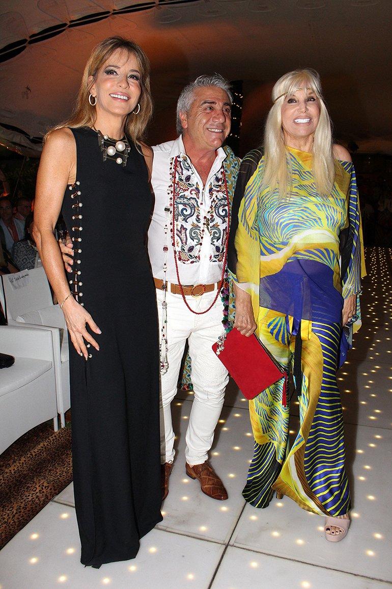 Patricia Della Giovampaola y Susana Giménez junto a Carlo Di Doménico
