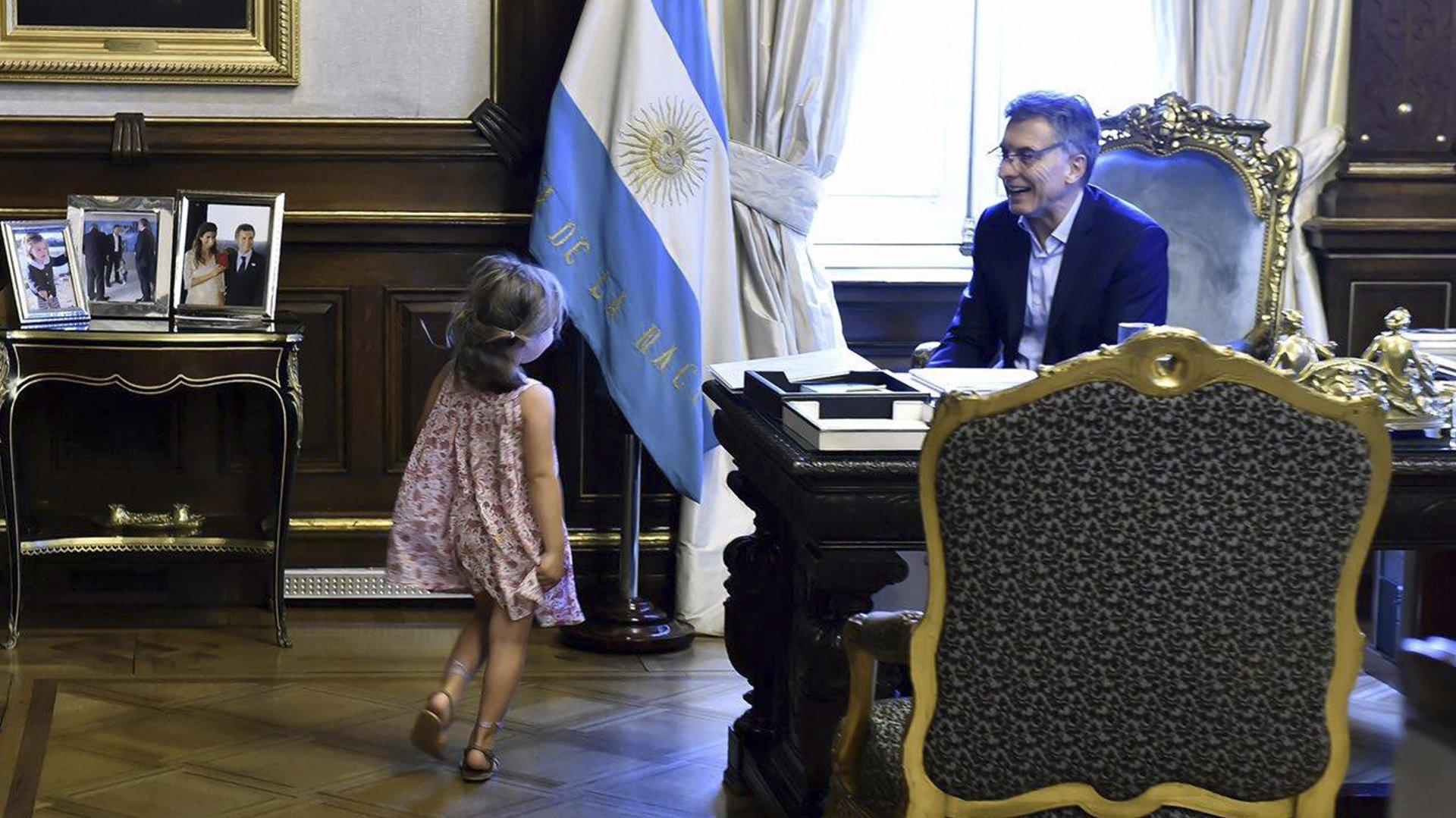Antonia es la menor de los 4 hijos que tiene Macri