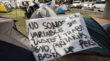 Las organizaciones sociales advirtieron que la manifestación es por tiempo indeterminado