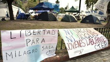 La medida de fuerza tiene como objetivo reclamar la liberación de la  líder de la Tupac Amaru y diputada kirchnerista del Parlasur