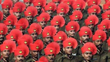 Los miembros del Regimiento de Rajput