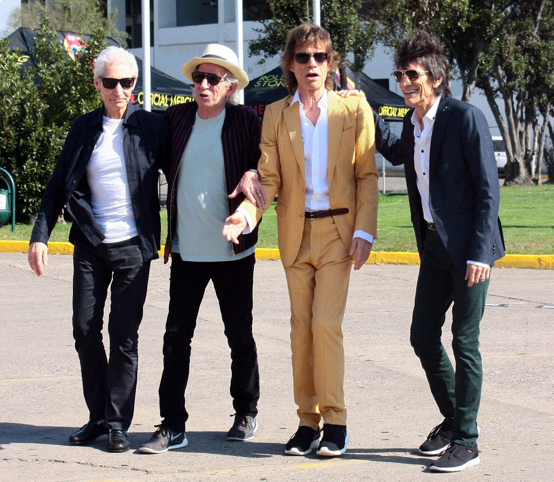 Charlie Watts, Keith Richards, Mick Jagger y Ron Woodaterrizaron en Chile para dar comienzo a suOlé Tour