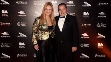 La PR Silvina Luna y su esposo Luis Seguessa, investigador y presidente de la Fundación Códigos