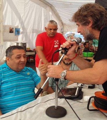 En la Plaza de Mayo se realiza un campamento para exigir la liberación de la dirigente social Milagro Sala, quien está detenida en Jujuy imputada por varios delitos