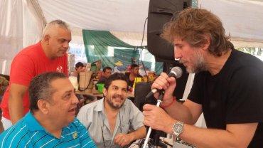 El ex vicepresidente de la Nación,Amado Boudou, reapareció este martes en público tras su regreso de México