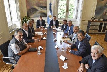 Los jefes de las principales centrales obreras del país visitaron la Casa de Gobierno para reunirse con Mauricio Macri