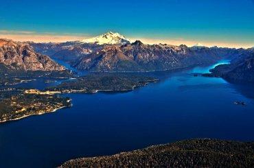 Vista aérea de la ciudad de Bariloche