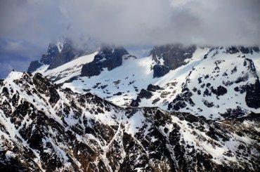 Vista aérea de la Cordillera de los Andes