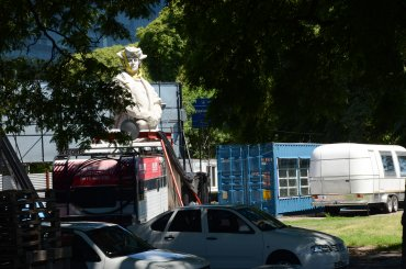 El Gobierno de la Ciudad de Buenos Aires monitoreó el desarme y traslado de las piezas.