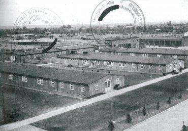 Barracones de alojamiento de la SS en Neuengamme durante la guerra