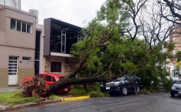 La ciudad entrerriana de Paraná también sufrió las consecuencias del temporal