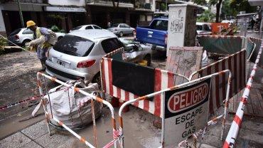 Según explicaron desde Metrogas a Infobae, las intensas lluvias hicieron que un árbol se desplomara y arañara un caño