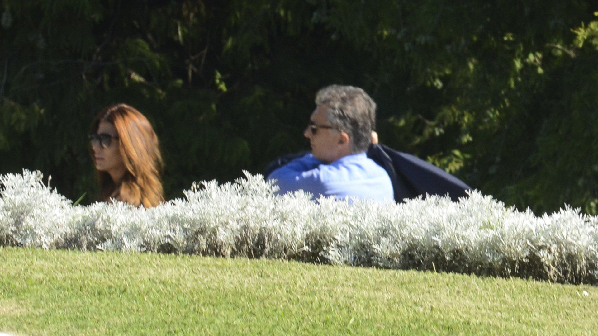Mauricio Macri junto a su esposa Juliana Awada