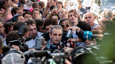Guillermo Moreno dijo antes del encuentro que Diego Bossio iba a ser tratado como cualquier otro compañero