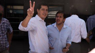 Eduardo Wado de Pedro y Mariano Recalde