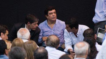 Juan Manuel Abal Medina, Fernando Espinoza y Juan Manuel Urtubey
