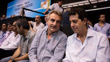 Agustín Rossi y Eduardo Wado de Pedro