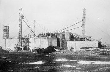 Primeras etapas de la construcción, enero de 1915