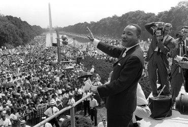 El líder de derechos civiles de Estados Unidos Martin Luther King, durante la famosa Marcha sobre Washington,el 28 de agosto de 1963