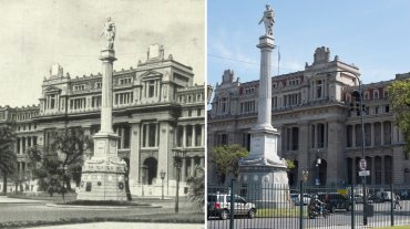 Palacio de Tribunales y monumento a Lavalle