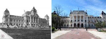 Casa de Gobierno de La Provincia de Buenos Aires en construcción 1883 y en la actualidad
