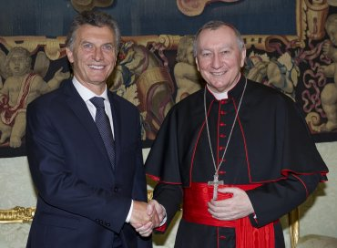 Mauricio Macri conPietro Parolin, secretario de estado del Vaticano