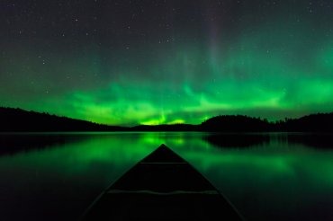 Aurora boreal tomada porGary Fiedler