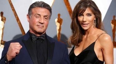 Blue on black tux, la combinación perfecta que eligió Sylvester Stallone.