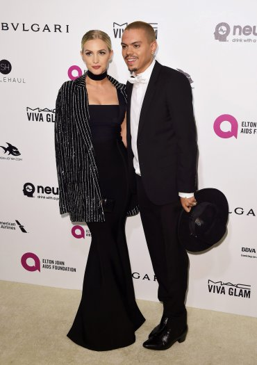 Evan Ross y su esposa Ashlee Simpson