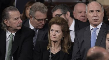 Los jueces de la Corte Suprema Juan Carlos Maqueda, Elena Highton de Nolasco y Ricardo Lorenzetti.