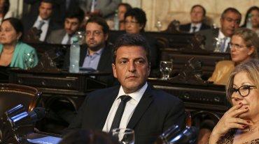 El líder del Frente Renovador, Sergio Massa