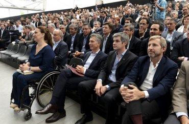 El presidente Mauricio Macri encabezó la reunión de gabinete ampliado nacional, que congregó a ministros, secretarios de Estado, subsecretarios, directores de empresas del Estado y de entes descentralizados en la Nave de la Ciencia, Tecnópolis
